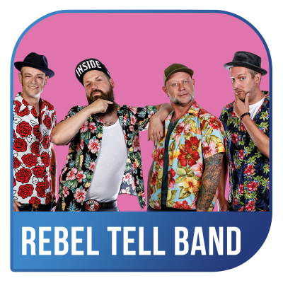 The Rebel Tell Band bei der Schlagernacht in Weiß
